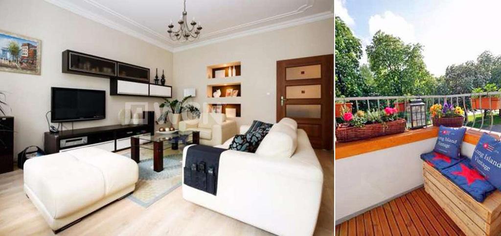 na zdjęciu luksusowe wnętrze salonu w apartamencie do sprzedaży w Szczecinie