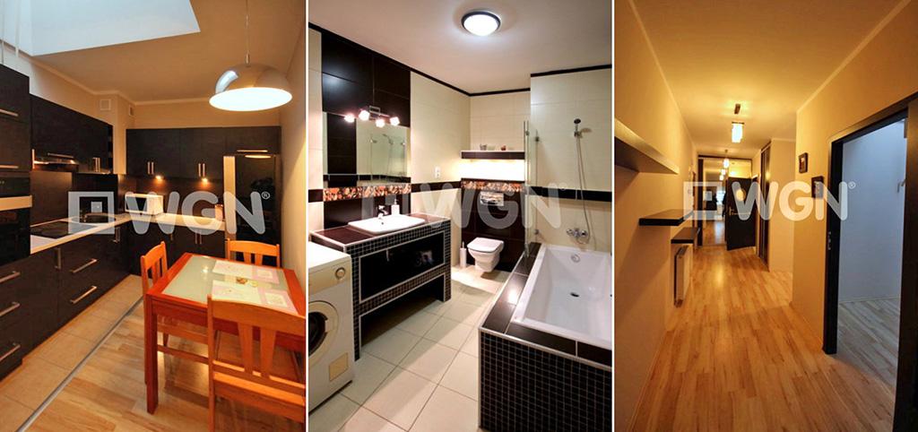 zdjęcie prezentuje różne luksusowe pomieszczenia w ekskluzywnym apartamencie do wynajęcia w Szczecinie