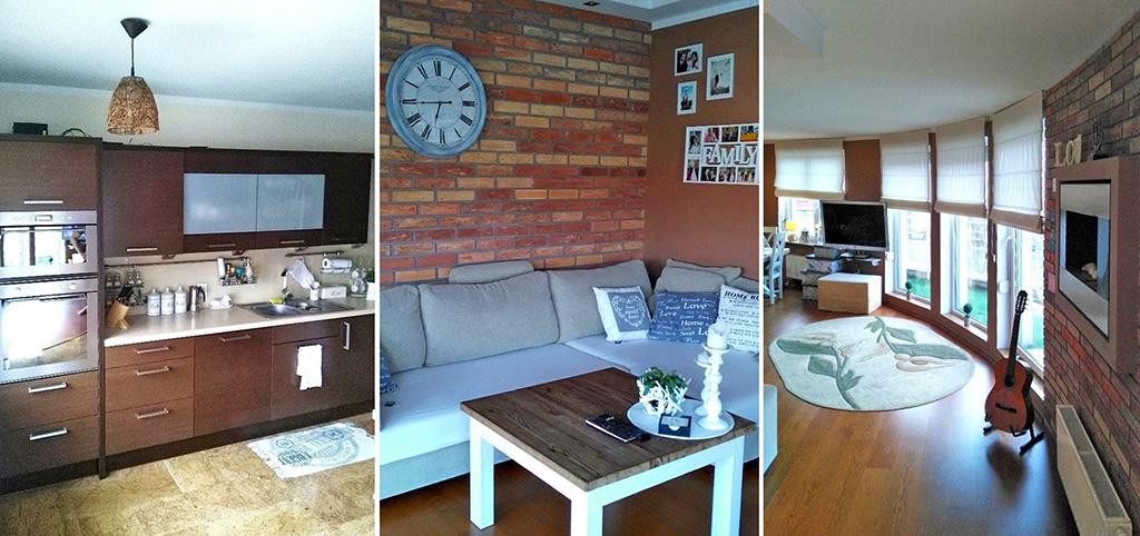 na zdjęciu trzy pomieszczenia w luksusowym apartamencie do wynajęcia w Szczecinie