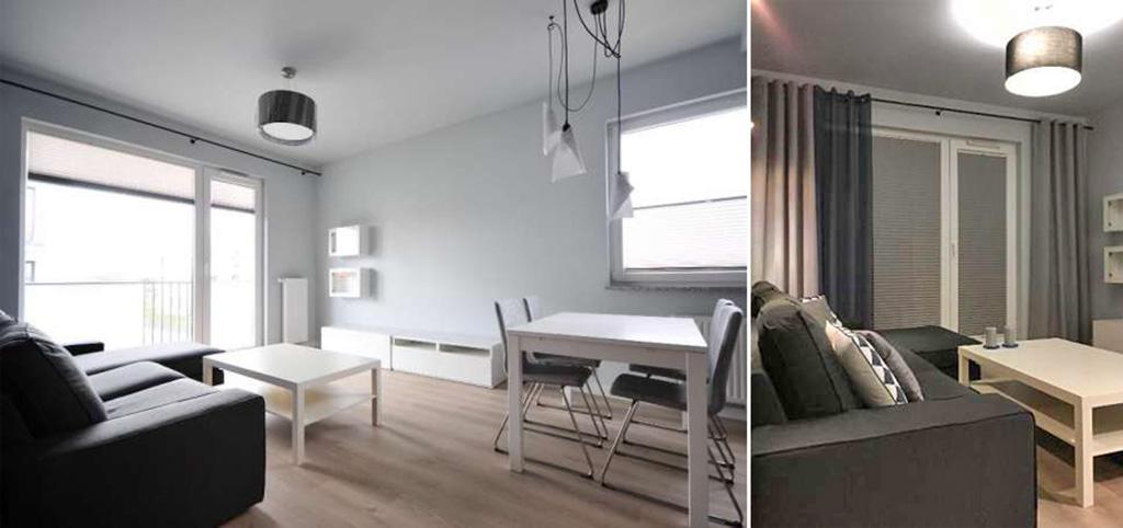 zdjęcie prezentuje wnętrze ekskluzywnego apartamentu do wynajęcia w Szczecinie