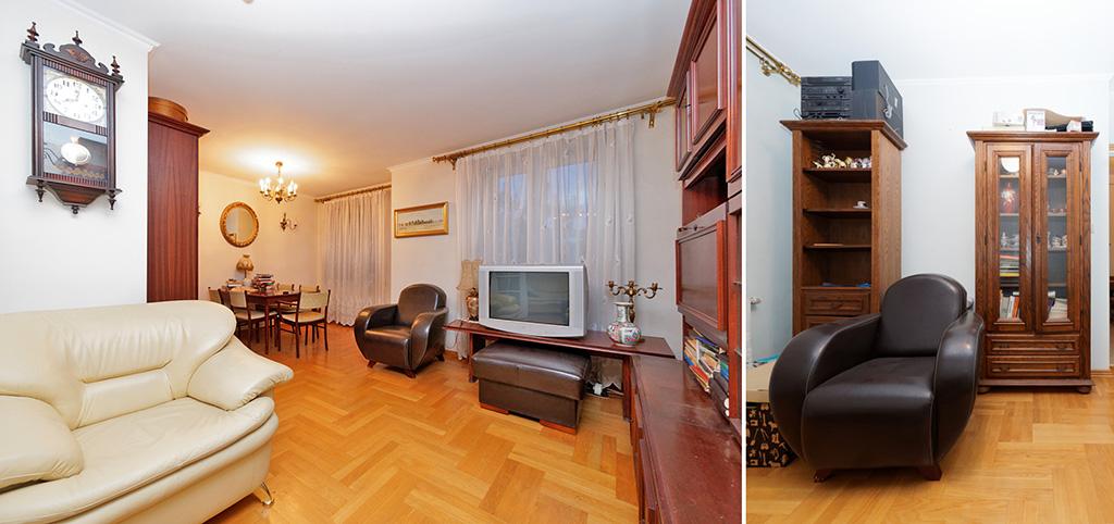 zdjęcie przedstawia salon w luksusowym apartamencie do sprzedaży w Tarnowie