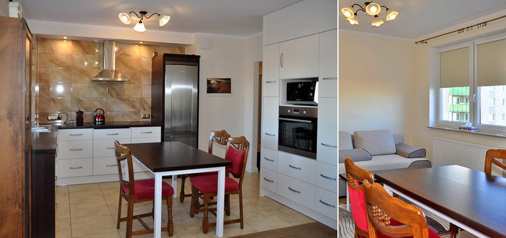 zdjęcie prezentuje luksusowe wnętrze apartamentu do wynajmu w okolicy Wrocławia