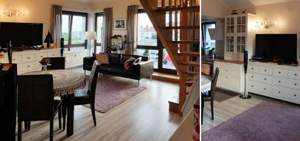 na zdjęciu luksusowy salon w apartamencie w Szczecinie do sprzedaży