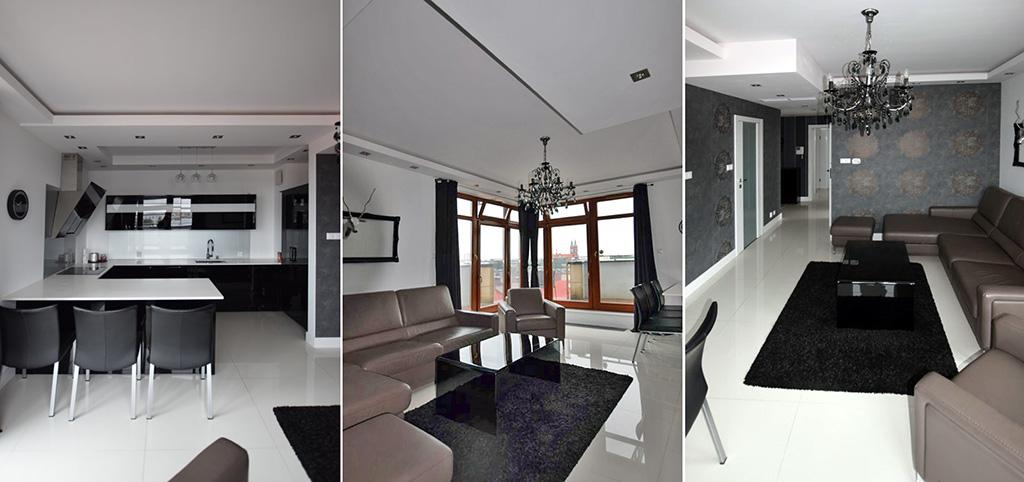 zdjęcie prezentuje ekskluzywne wnętrze apartamentu do wynajęcia w Białymstoku