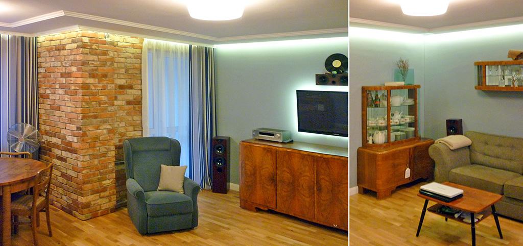 zdjęcie prezentuje luksusowy salon w ekskluzywnym apartamencie do sprzedaży w Olsztynie