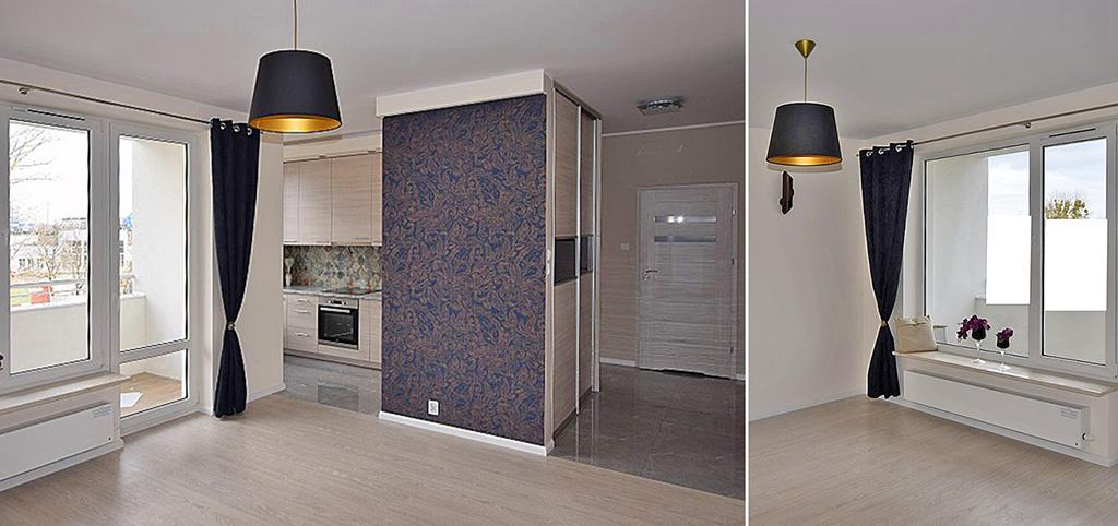 na zdjęciu nowocześnie urządzone wnętrze apartamentu do sprzedaży w Białymstoku