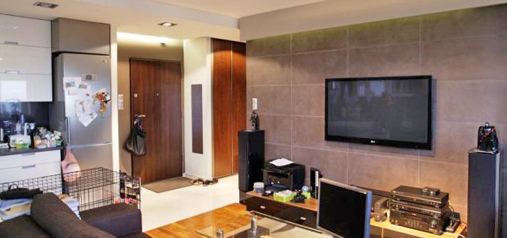 widok na ekskluzywnie wyposażony salon w luksusowym apartamencie do sprzedaży w Białymstoku