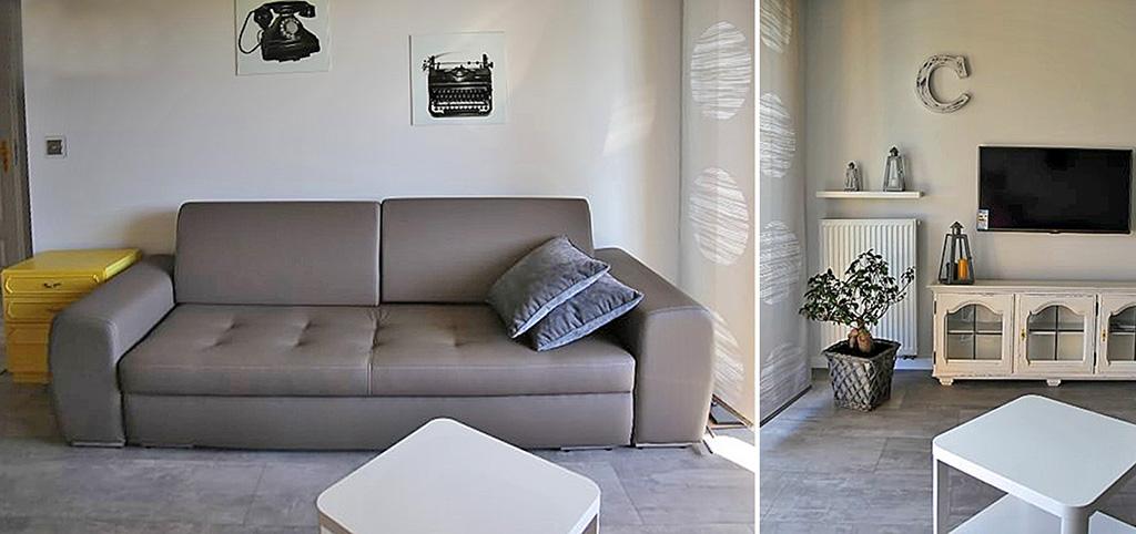 zdjęcie prezentuje fragment salonu w ekskluzywnym apartamencie do sprzedaży w Katowicach