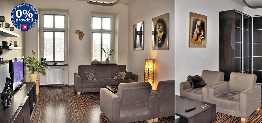 zdjęcie przedstawia fragment salonu w luksusowym apartamencie do sprzedaży we Wrocławiu