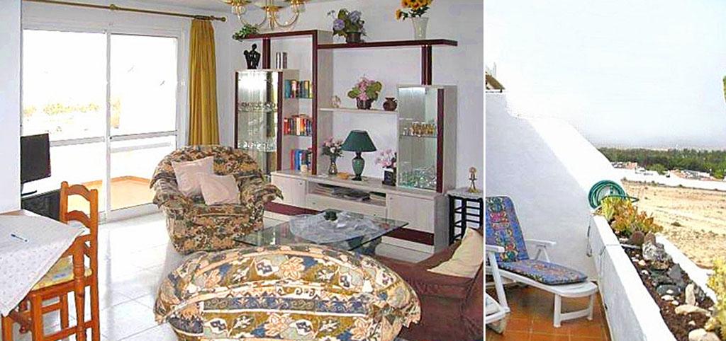 na zdjęciu salon w ekskluzywnym apartamencie do sprzedaży w Hiszpanii