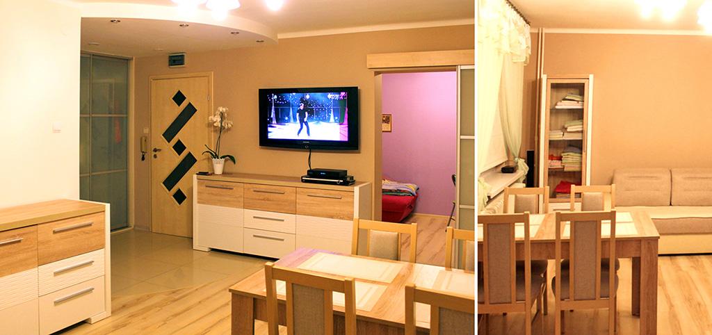 zdjęcie prezentuje salon w apartamencie do sprzedaży w Olsztynie