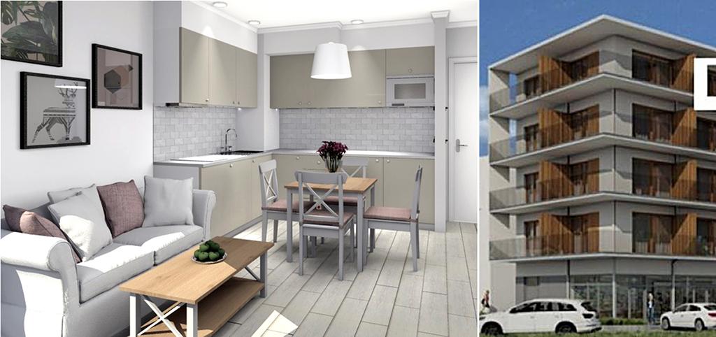 nowoczesne wnętrze ekskluzywnego apartamentu na sprzedaż nad morzem