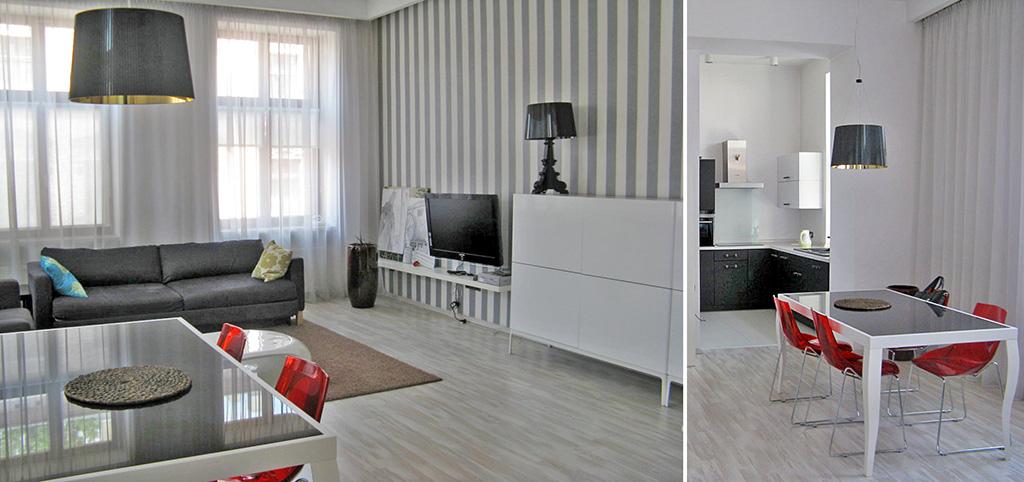 zdjęcie prezentuje komfortowy, elegancki apartament na sprzedaż w Łodzi
