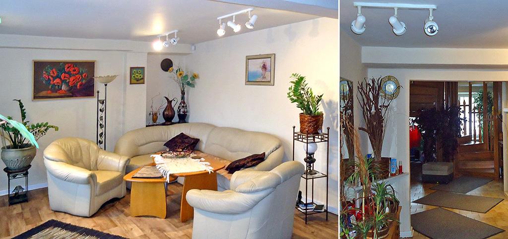 na zdjęciu ekskluzywny salon w apartamencie do sprzedaży w Łodzi