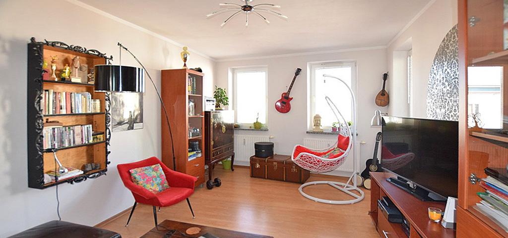 komfortowy salon w luksusowym apartamencie do sprzedaży w Białymstoku