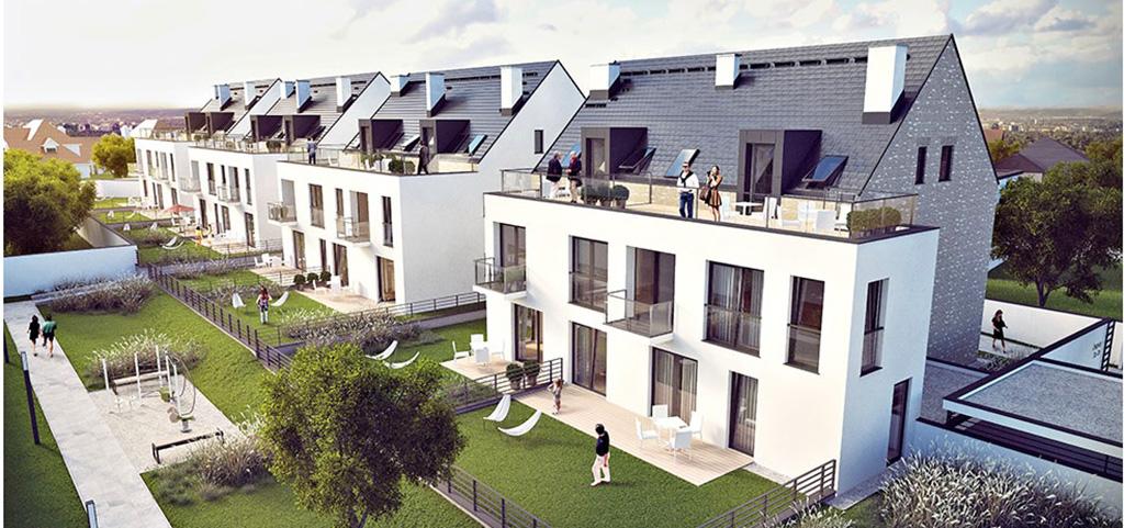 na zdjęciu luksusowe apartamentowce we Wrocławiu, w jednym z nich znajduje się ten oferowany na sprzedaży apartament