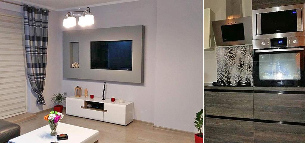 na zdjęciu nowoczesny salon w luksusowym apartamencie do sprzedaży w okolicach Katowic